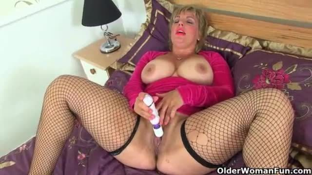 Busty milf danielle fucks herself with a dildo